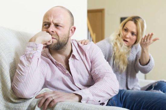 Ссора жены и мужа