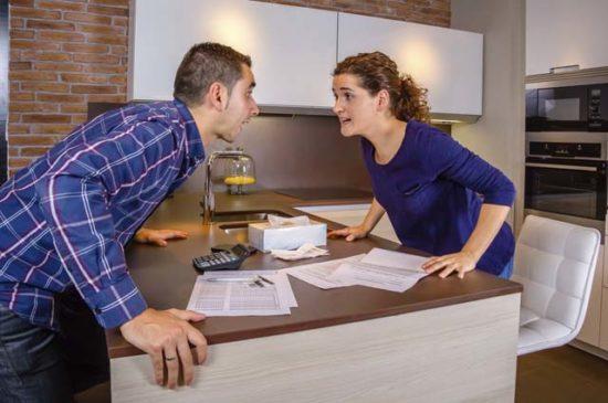 Ссора между женой и мужем