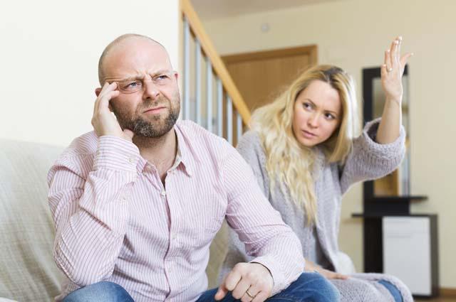 Жена объясняется перед мужем