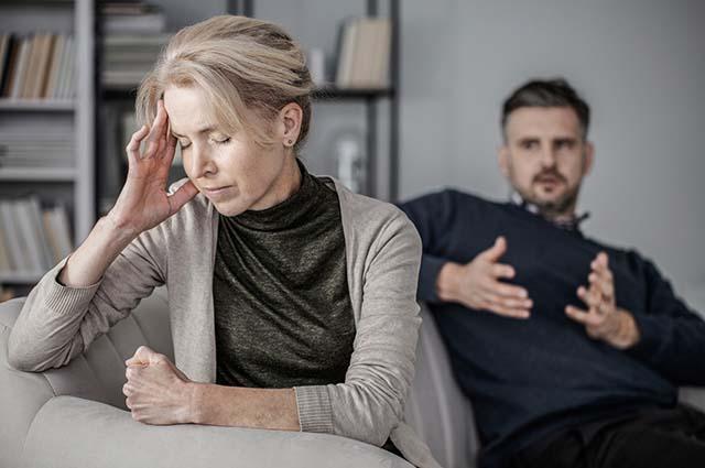 Конфликт жены с мужем