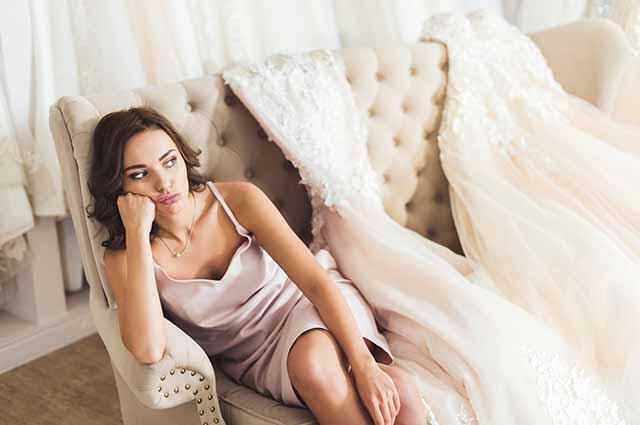 Невеста думает о свадьбе
