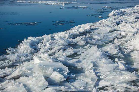 Лед на реке