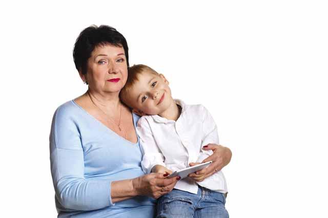 Внук и бабушка