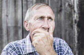 Портрет пожилого деревенского человека